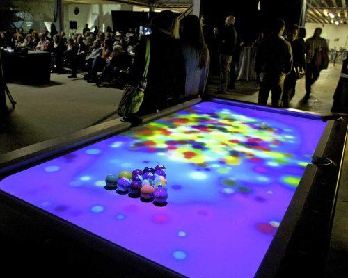 Billard interactif et tactile dans vos événement