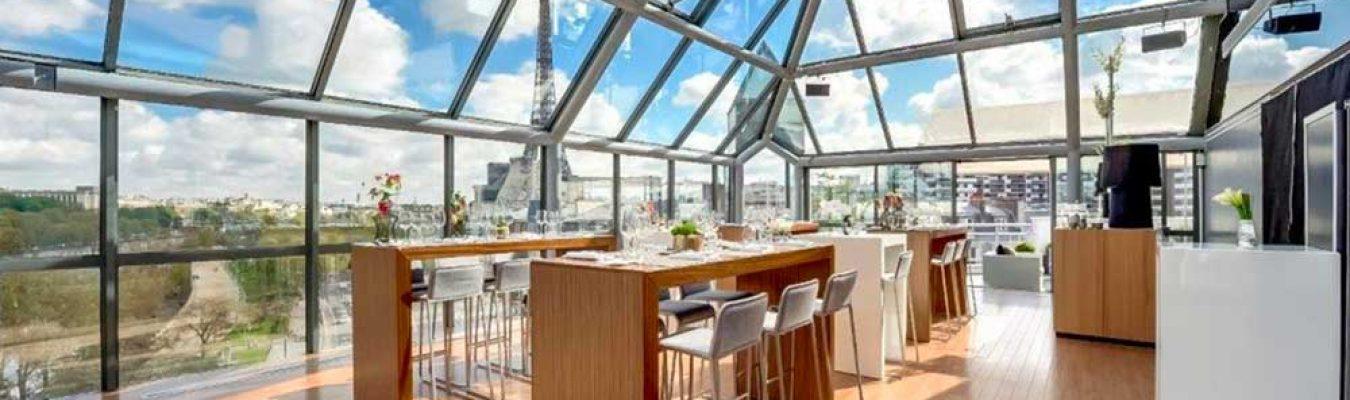 Un Rooftop a Paris sur les bord de la Seine, au pied de la Tour Eiffel pour vos cocktails et séminaires entreprise