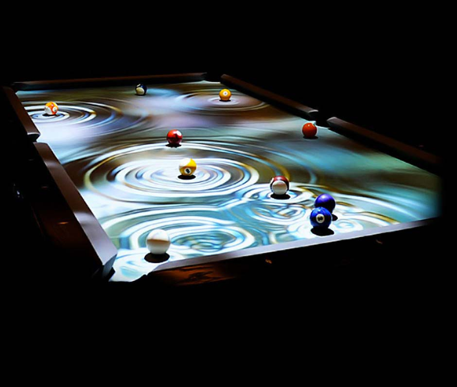 table de billard cuelight