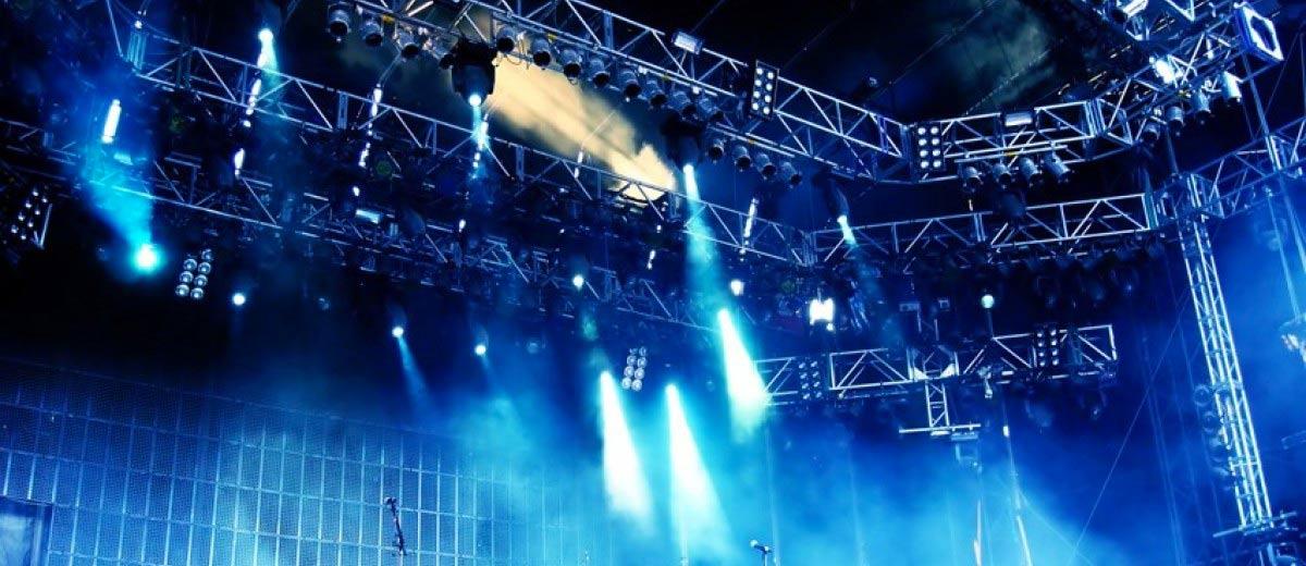 Mise en lumière d'un concert