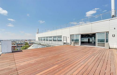 Evenement entreprise sur rooftop