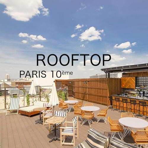 Rooftop à privatiser à paris dans le 10ème arrondissement