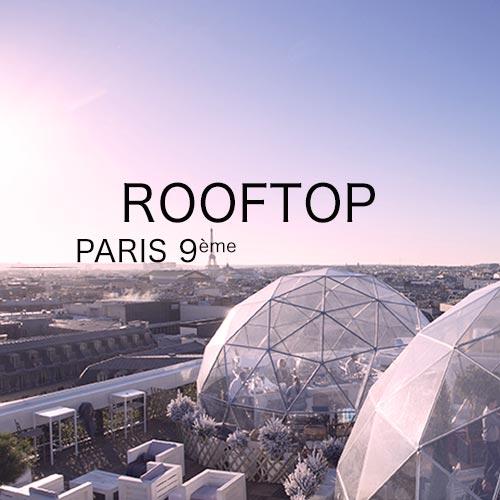 rooftop paris 9 pour événement d'entreprise