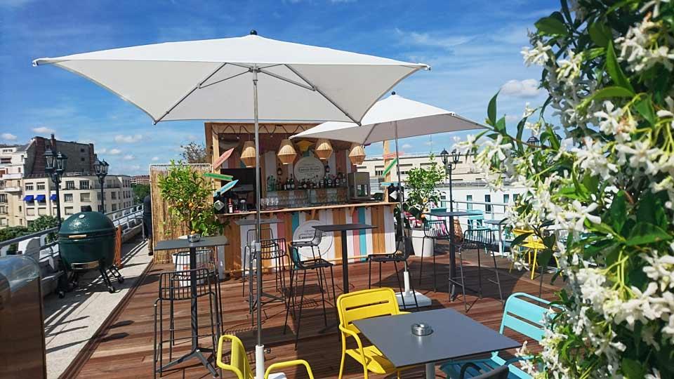 toit terrasse rooftop evenement entreprise vue paris