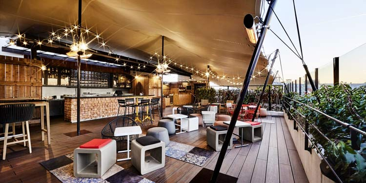 rooftop avec bar a paris