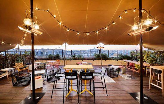 terrasse rooftop pour événement entreprise paris