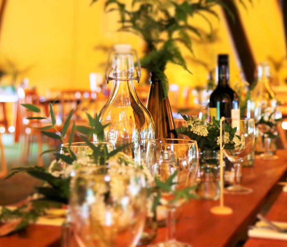 Table d'événement écologique