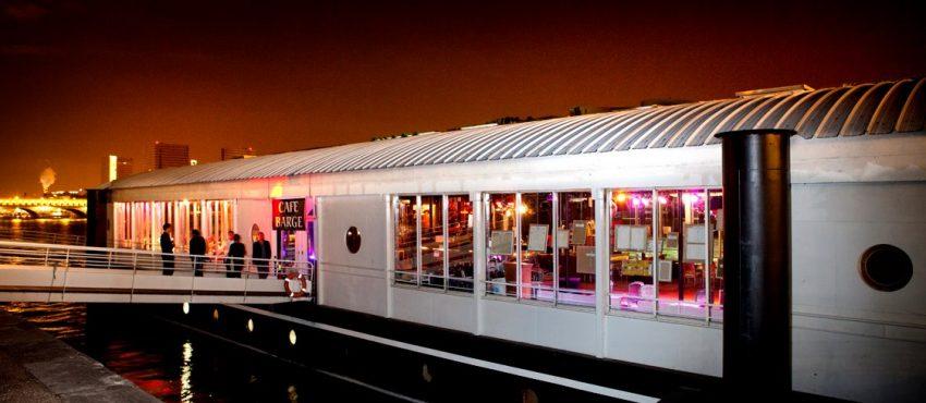 Café Barge lieu à privatiser pour entreprise